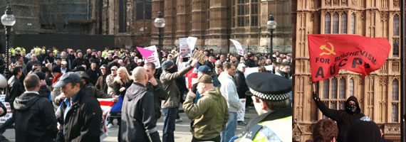 EDL vs. UAF, Parliament 5 March 2010