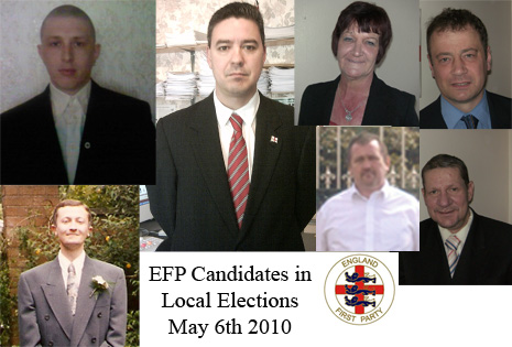 EFP Candidates (clockwise from top left) - Andrew Clayton, Mark Cotterill, Kate Ward, Mark Leat, Spencer Cartlidge, David Geddes, Ian Hague