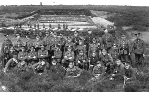 Some of the 'Accrington Pals' on the rifle range at Ripon, Yorkshire, before embarking for Egypt. They fought in early 1916 in defence of the Suez Canal before heading for France, and their decimation on the first day of the Battle of the Somme.