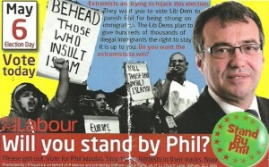 One of the controversial leaflets which cost Phil Woolas his parliamentary career