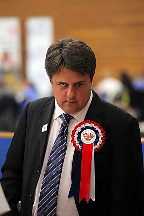 Nick Griffin struggling to think up excuses as he contemplates election disaster in May 2011.