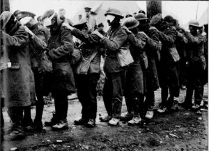 In October 1918 Adolf Hitler was the victim of a mustard gas attack that left him temporarily blinded and invalided out of the last few weeks of the First World War