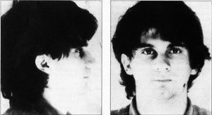 A key figure in the British 'Far Right' during the 1980s was Roberto Fiore, leader of the Italian revolutionary group NAR, seen here in a 1982 'mugshot' issued by Italian police, who framed Fiore and his comrades for involvement in the 1980 bombing of Bologna railway station.