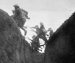 The Battle of the Somme, where Adolf Hitler was wounded in October 1916