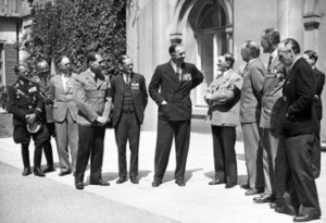 Adolf Hitler was on good terms with many of his former opponents in the First World War, such as the group of British veterans shown here who met him as part of an official British Legion delegation
