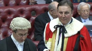 Stanley Fink taking his seat in the upper house as Lord Fink of Northwood