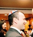 Ambassador Matthew Gould with Union Jack yarmulke