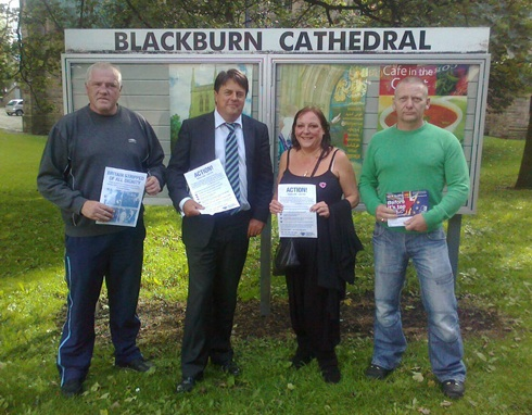 Nick Griffin attempted to relaunch Blackburn BNP, but the branch hit a new record low this year.