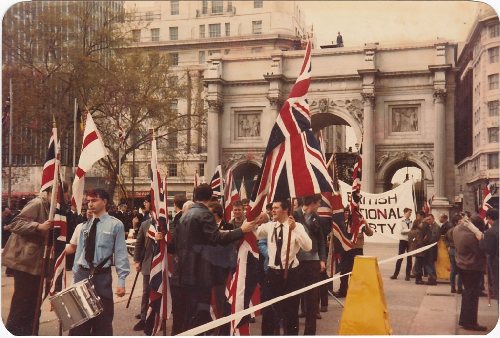 The BNP's Falklands march in London, 1982.