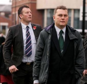 New BNP chairman Adam Walker (left) with the party's puppet master Patrick Harrington: they bear a heavy responsibility for the worst ever nationalist general election.