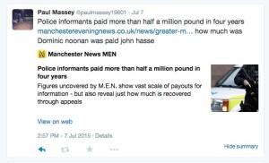Massey tweet