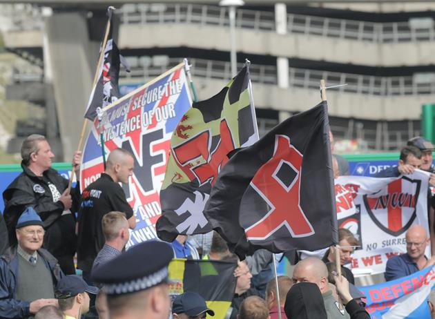 NF demonstrators defeated the red rabble in Dover yesterday