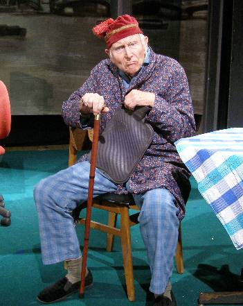 Terry Denville-Faulkner in one of his final stage roles in 2010, in Alan Ayckbourn's 'Private Fears in Public Places'.