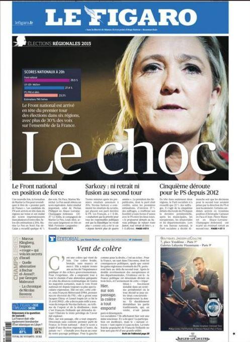 Figaro - Le Pen - shock