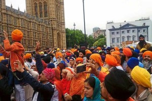 Sikhs - Parliament - protest