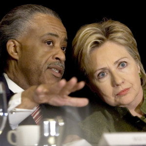 Presidential front-runner Hillary Clinton (seen here with the influential Rev. Al Sharpton) has overwhelming support from American blacks.