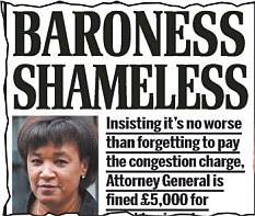 Baroness Scotland headline