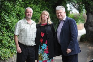 Phil Andrews (left) with two fellow ICG candidates during their 2014 election campaign. Neither of his colleagues had any NF connections.