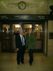 Dr Fredrick Töben and Lady Michèle Renouf as the Australian academic prepared to leave London in November 2008, following the invalidation of a European Arrest Warrant