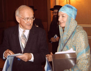 Prof. Robert Faurisson with Lady Renouf at the Tehran Conference in 2006, where his speech became the focus of several criminal trials in Paris. The most recent conviction was in September 2016.