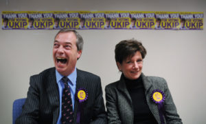 Diane James (right) has quit after just 18 days as UKIP leader
