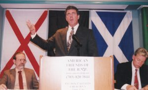 Don Black speaking at a February 2001 meeting of the American Friends of the BNP, in Arlington, Virginia.