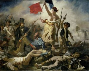 Similarly, the Economist's portrayal of Marine Le Pen was a reference to this famous painting by Delacroix, 'Liberty Leading the People'.