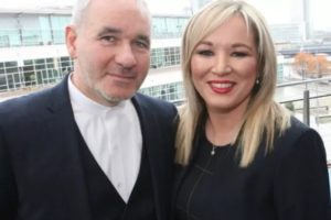 Sinn Fein candidate Dr Peter Doran with his party leader Michelle O'Neill