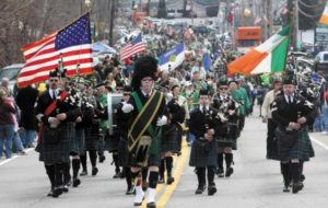 The type of St Patrick's Day image most readers will recognise, from one of the many New York parades.