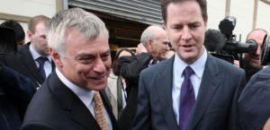 David Ward with former Lib Dem leader and Deputy Prime Minister Nick Clegg.