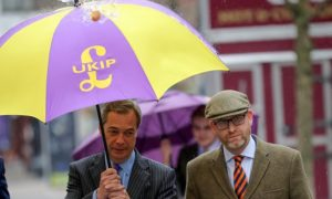 Will Nigel Farage return to spearhead UKIP's General Election campaign, displacing his useless successor Paul Nuttall (right)