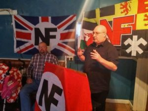 Kevin Bryan (right) about to return as NF Chairman, was the only NF candidate in England, with his colleague Adam Lloyd (left) the only racial nationalist candidate from any party in Wales.