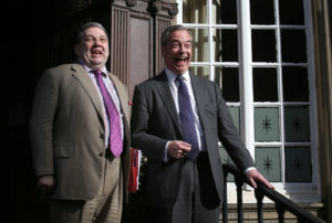 David Coburn (left) with former UKIP leader Nigel Farage