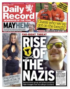 Today's Daily Record front page
